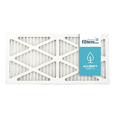 Cleaner Filters 12x24x1 Air Filter, Pleated High Efficiency Allergy Furnace Filters for Home or Office with MERV 11 Rating (1 Pack)