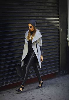 love the pairing of the leggings and jacket