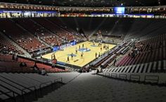 The Montana basketball team practices in The Pit. TOM BAUER/Missoulian  http://missoulian.com/college/griz/underdog-griz-look-for-upset-in-famed-arena-known-as/article_5816fb5c-6e47-11e1-88a4-0019bb2963f4.html