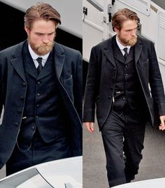 Well, would ya look at that beard!! Yes, ladies and gentlemen, this is the one and only, Robert Pattinson.