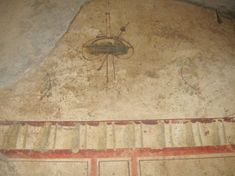 Wow a flying object - the shape dimensions and proportions are consistent with modern day UFO sightings. It has a fuselage and a cockpit made of a transparent glass material. There are three space entities in the craft. This is an absolutely stunning rock painting on a cave wall in Pompeii. Its about 5000 years old . Can this be anything other than a UFO? #ufosighting #ufo #sighting #year #old