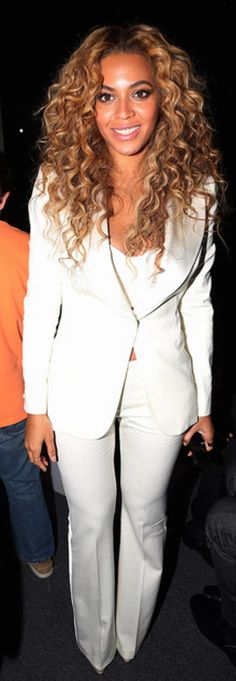 Beyonce Knowles: Pants and jacket – Alexander McQueen