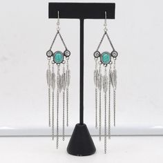 Chandelier Earrings Pendientes Long Boho Fringe Earrings Boho Chic Jewelry Gypsy Statement Dangle Drop Earrings Boheme brincos