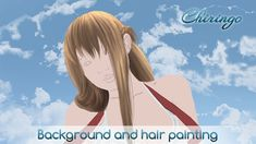 Background and hair painting Painting Process, Hair Painting, Sword Art Online Asuna, 2d Art, Illustration, Anime, Illustrations, Anime Shows