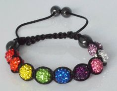 Shamballa Bracelet: 9 10mm Crystal Beads - Rainbow Sophistikitty. $19.99. 9 10mm CZ Crystal beads. 2 10mm magnetic Hematite balls. 2 8mm magnettic Hematitie balls