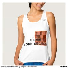Under Construction Workout Tank Top