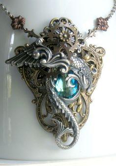 punk gothic steampunk victorian fashions | necklace # steampunk # steampunk fashion # gears