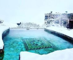 When you like it hot but with a touch of chill to keep you on your toes. Experience a Turkish winter in the hot Roman baths at the @MuseumHotel of  #Cappadocia for yourself this year. Travel Well #TravelFly! // #TravelFlyHotels