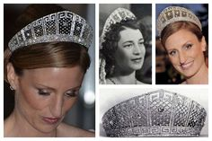 The Prussian Meander Tiara: Prince Wilhelm commissioned it in 1905 as a wedding gift for his bride, Cecilie of Mecklenburg-Schwerin. GD Kira Kirillovna of Russia, wore it when she married Wilhelm and Cecilie's son, Prince Louis Ferdinand, in 1938. Almost thirty years later, her daughter, Princess Marie-Cécile, wore the tiara at her wedding to Duke Friedrich August of Oldenburg. Princess Sophie of Isenburg, wife of Prince Georg Friedrich of Prussia, wore it at her wedding reception in 2011.