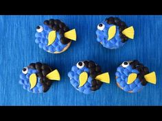 I made Dory Cupcakes! In this video I show you how to make fondant fins and how to decorate with buttercream and make Dory. Enjoy. I love to bake, decorate c...