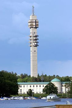 Kaknästornet is a TV tower in Gärdet in Stockholm, Sweden. It is a major hub of Swedish television, radio and satellite broadcasts.