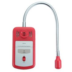 Portable Gas Combustible Detector Gas Leak Tester with Sound and Light Alarm Red