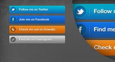 Create a set of beautiful social media buttons