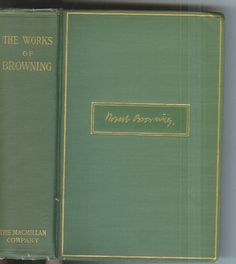 The Complete Poetical Works of Robert Browning  1912 Rare Antique Book!
