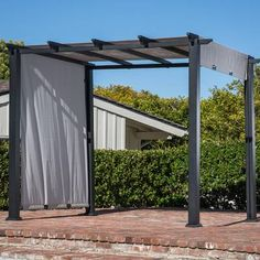 The pergola kits are the easiest and quickest way to build a garden pergola. There are lots of do it yourself pergola kits available to you so that anyone could easily put them together to construct a new structure at their backyard. Steel Pergola, Wood Pergola, Modern Pergola, Pergola Canopy, Pergola Swing, Pergola With Roof, Covered Pergola, Outdoor Pergola, Backyard Pergola