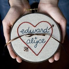 Ring bearer pillow come embroidery hoop.