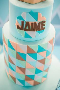 Jaime's Geometric Fox Themed Party – Cake Geometric Fox, Party Themes, Party Ideas, Party Cakes, Birthday, Shower Cakes, Birthdays, Ideas Party, Dirt Bike Birthday