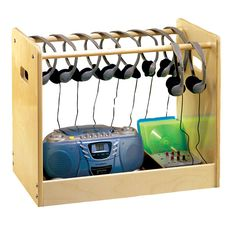 classroom headphone storage | Top / Audio-Visual / Carts - Caddies / Listening Center Caddy