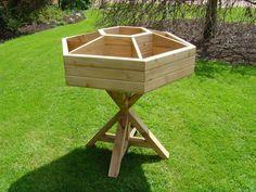 Wooden Garden Planters, Herb Planters, Flower Planters, Planter Boxes, Outdoor Plants, Outdoor Gardens, Garden Projects, Wood Projects, Window Boxes
