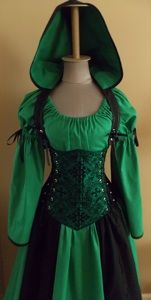 Calypso Set Under-bust Corset Set - renaissance clothing, medieval, costume