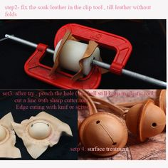4 size Leather bell making tool, Leather( tanned leather )bell mold, Hand DIY…