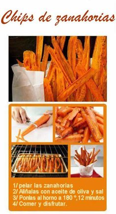 I can't understand what it says but I know it is carrot French fries! If someone can translate do it in the comment section :)