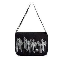 Canvas messenger bag with forest folk print. Folk Print, Canvas Messenger Bag, All Gifts, Printed Bags, Online Gifts, Prints, Design, Design Comics, Printmaking