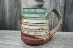 Eco-Friendly Pond Clay Mug - Sustainable Pottery | FolkArtPottery, Etsy.