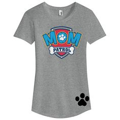 Custom PAW PATROL MOM birthday Ladies T Shirt Mom Patrol Shirt