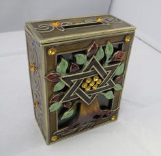 Tree of Life Tzedakah Box In shades of Brown by ShukisJudaica on Etsy https://www.etsy.com/listing/467010437/tree-of-life-tzedakah-box-in-shades-of