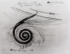 Spiral Jetty (Sketch) — Robert Smithson via Biblioklept