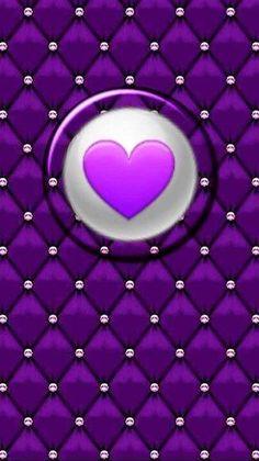 Heart Iphone Wallpaper, Star Wallpaper, Purple Wallpaper, Purple Backgrounds, Love Wallpaper, Wallpaper Backgrounds, Wallpaper Ideas, Phone Wallpapers, Purple Love