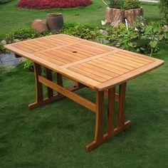 International Caravan Royal Tahiti Yellow Balau Wood Rectangular Dining Table - Overstock™ Shopping - Great Deals on International Caravan Dining Tables