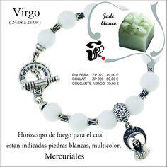 Hola Feliciamig@s.   Entramos en el horóscopo de virgo.  Esta es la pulsera de Feliciano joyeros para el horóscopo de virgo.   La pulsera de este horóscopo está fabricada en cuarzo blanco y plata.  Muchas felicidades a tod@s los virgo.