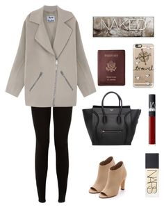 """""""//fall travel\\"""" by edenerickson ❤ liked on Polyvore featuring Acne Studios, NARS Cosmetics, Royce Leather, Casetify, Vince, Urban Decay, fallstyle and coolcoat"""
