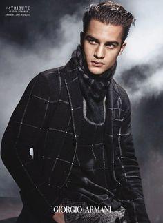 Aleksandar Rusic for Giorgio Armani Fall Winter 2015.16