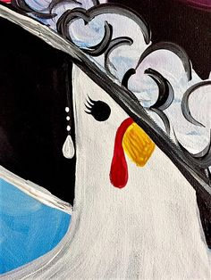 Fall 2017 Lookbook: One Haute Chick chicken Paint Nite painting
