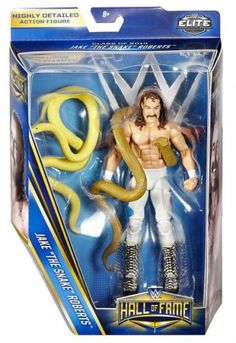 wwe hall of fame series 4 jake the snake roberts in package
