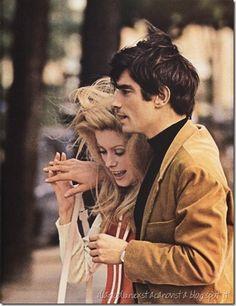 Catherine Deneuve and David Bailey at the time a hot affair.