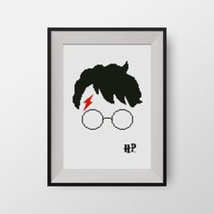Harry Potter - PDF counted cross stitch pattern - Hogwarts - Glasses of Harry Potter, P075