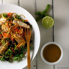 Asian Grilled Chicken Salad The dressing sounds delish