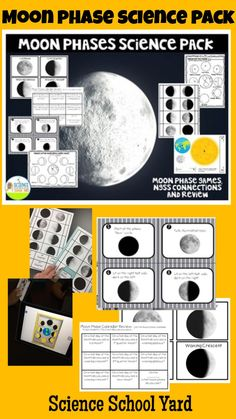 Teaching the phases of the moon can be simple with tricks for teaching the lunar cycles that will make it simple, models, interactive notebook sheets, Oreo Cookie Moon Phase fun, memory games, task cards, and more!  Perfect for NGSS cycles and patterns! 5th Grade Science, Elementary Science, Science Classroom, Elementary Teacher, Cool Science Experiments, Easy Science, Science Activities, Science Ideas