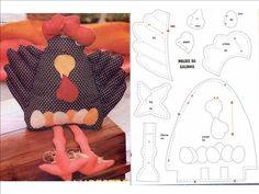 A GAIVOTA ARTESANATOS Filial 04: Molde patchwork Galinhas