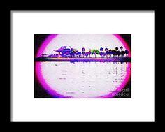 Beautiful Framed Print featuring the digital art Saint Petersburg Pier by Caroline Gilmore