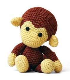 Johnny the Monkey amigurumi crochet pattern by Pepika