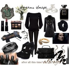 Severus Snape by dvkaty on Polyvore featuring мода, Ralph Lauren Black…