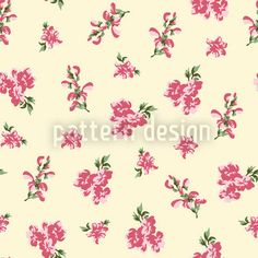 Garden Romance In Winter White by Viktoryia Yakubouskaya available as a vector file on patterndesigns.com