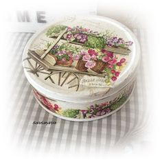 Sabelapatch: Latas, decoupage, chalky paints