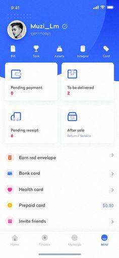 Wallet app interface design – 2 on Inspirationde Source by hbarazande . Mobile Ui Design, Ui Ux Design, Application Ui Design, User Interface Design, Ios App, Dashboard App, Android App Design, Android Ui, Web Mobile