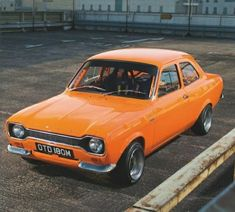 Escort Mk1, Ford Escort, Orange Cars, Ford Classic Cars, Jdm, Cool Cars, Old School, Mexico, Racing